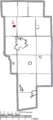 Map of Ashland County Ohio Highlighting Bailey Lakes Village.png