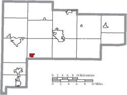 Location of New Knoxville in Auglaize County