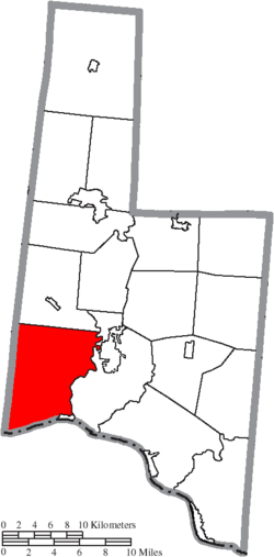 Location of Lewis Township in Brown County
