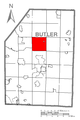 Map of Clay Township, Butler County, Pennsylvania Highlighted.png