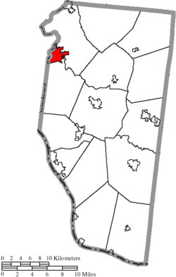 Location of Milford in Clermont County