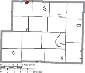 Bowerston, Ohio - Image: Map of Harrison County Ohio Highlighting Bowerston Village