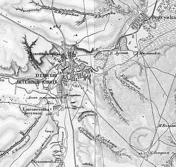 Трехверстовая карта Луганского
