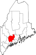 Map of Maine highlighting Kennebec County.svg