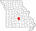 Map of Missouri highlighting Pulaski County.png