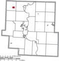 Map of Muskingum County Ohio Highlighting Frazeysburg Village.png