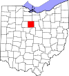 State map highlighting Crawford County