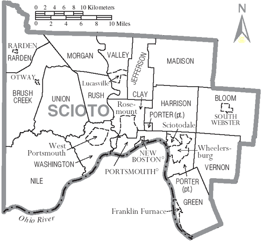 Datei:Map of Scioto County Ohio With Munil and Township Labels ... on