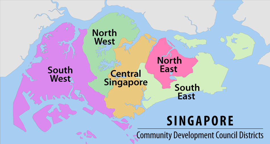 Map of the CDC Districts of Singapore