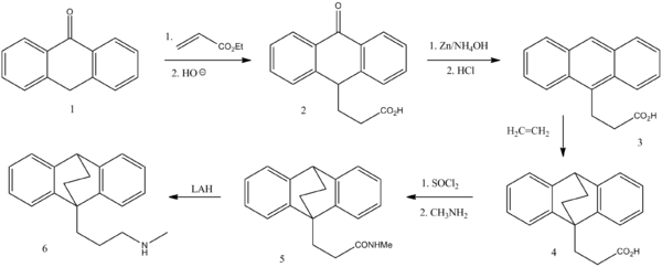 Maprotilin synthesis.png