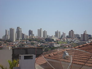 Marília - Panorama of the city from a rooftop.