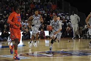 2012–13 Georgetown Hoyas men's basketball team - Image: Markel Starks during Navy Marine Corps Classic 2012