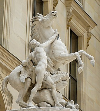 Guillaume Coustou the Elder - Horse tamer, one of the Chevaux de Marly