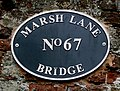Marsh Lane Bridge nameplate, near Wolverhampton - geograph.org.uk - 1344799.jpg