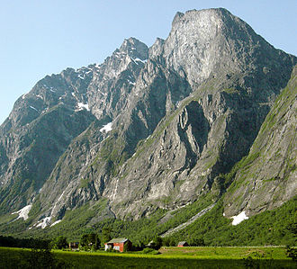 Rauma, Norway - View of Marstein in the Romsdalen valley