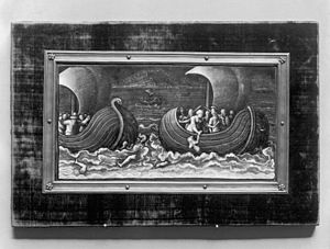 Absyrtus - Plaque with Medea's Murder of Absyrtus  by Martin Didier Pape   (between 1580 and 1600)