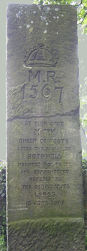 Battle of Carberry Hill - Commemorative Stone at Carberry marking the site of the conflict