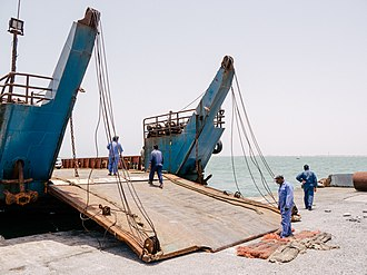 Masirah Island - Ferry preparing to sail for Masirah Island