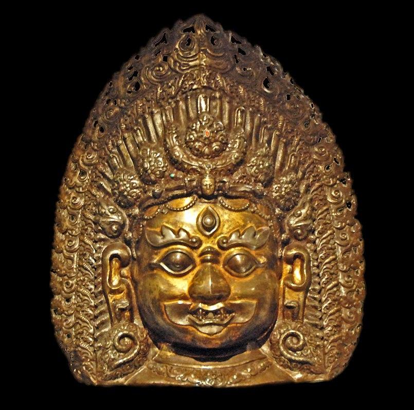 Masque de Bhairava (mus%C3%A9e dart asiatique de Berlin) (2707467043)