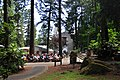 Mass on the plaza of The Grotto (Portland, Oregon), Chapel of Saint Mary in background 01.jpg