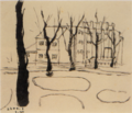 MatsumotoShunsuke Sketch Landscape 1940.png