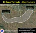 May 31, 2013 El Reno, Oklahoma tornado track.png