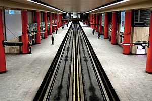 McGill station - Image: Mc Gill station rouge red