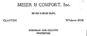 Meier and Comfort - Image: Meier and Comfort logo