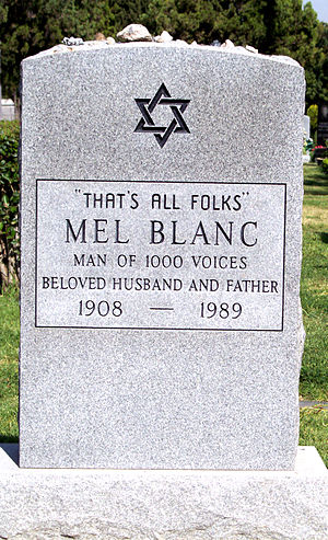 Hollywood Forever Cemetery - Mel Blanc's tombstone