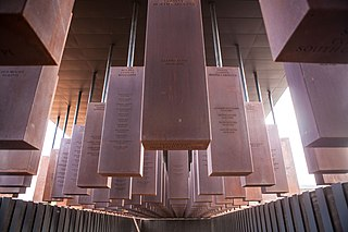 The National Memorial for Peace and Justice National memorial that commemorates the victims of lynching in the United States