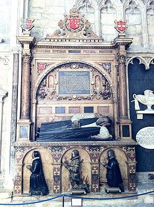 Matthew Hutton (archbishop of York) - Memorial to Archbishop Matthew Hutton in the south choir aisle at York Minster.