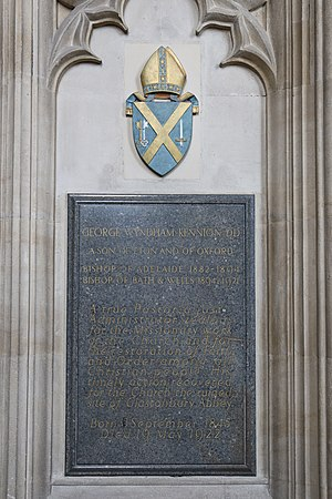 George Kennion - Memorial in Wells Cathedral