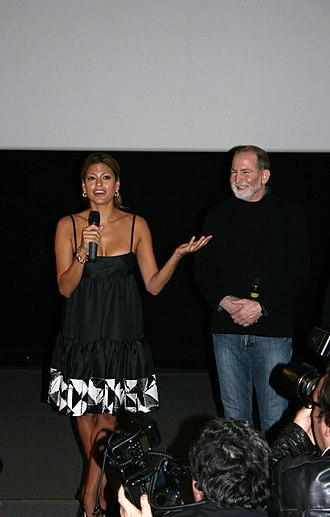 Bill Guttentag - Eva Mendes and Guttentag at the preview showing of Live! in Paris (January 2008)