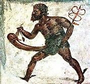 Uma ilustração de Priapo, deus grego da fertilidade.