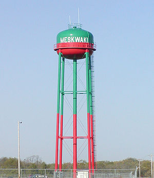 Tama County, Iowa - Meskwaki Settlement water tower