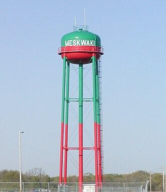 Tama County, Iowa - Meskwaki Settlement water tower