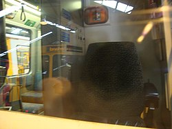 Metrocar drivers cab interior, Tyne and Wear Metro depot open day, 8 August 2010 (1).jpg