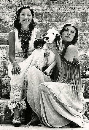 Mia Martini - Mia Martini (left) with sister Loredana Berté