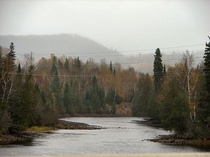 Michipicoten River - Michipicoten River as seen from Highway 101