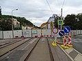 Michle, Nuselská, rekonstrukce mostu přes Botič.jpg