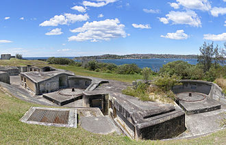 Middle Head Fortifications - Gun emplacements