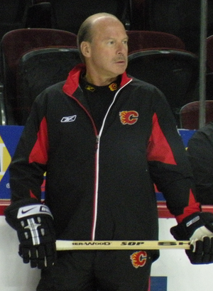 Mike Keenan - Keenan, seen here as the head coach of the NHL's Calgary Flames