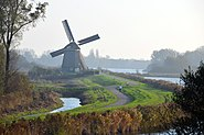 Mill Twiske at Oostzaan in the morningsun at 21 November 2014 - panoramio