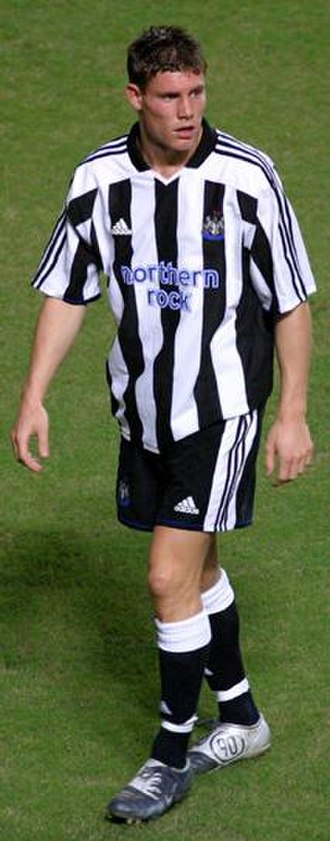 James Milner - Milner playing for Newcastle United in 2004