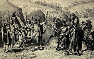 Miloš Obilić - Miloš Obilić at the tent of Sultan Murad.