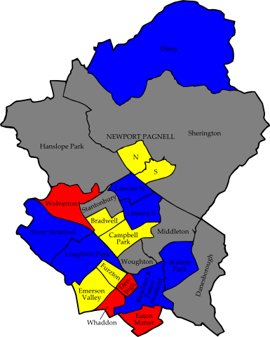 Milton-keynes 2006 election map