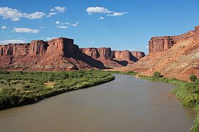 The Green River ved Canyonlands National Park