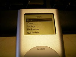 Podzilla, de interface van iPodLinux