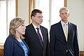 Ministru prezidents V.Dombrovskis tiekas ar Eiropas Parlamenta Rūpniecības, pētniecības un enerģētikas komitejas deputātiem un Eiropas Elektronisko sakaru regulatoru iestādes (BEREC) vadību (7886160250).jpg