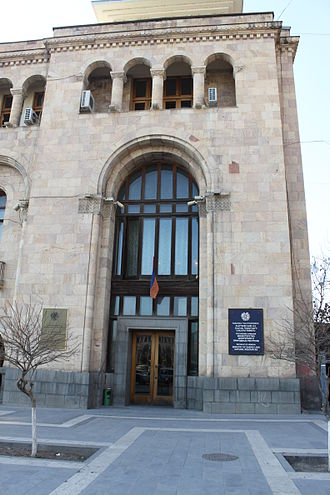 Energy in Armenia - Armenia's Ministry of Energy and Natural Resources in Yerevan's Republic Square